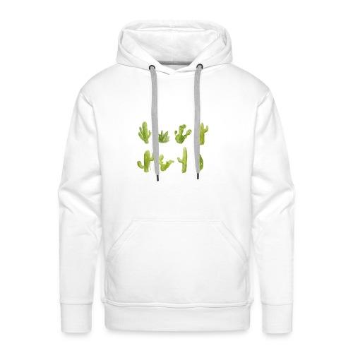 Cactus Design aquarelle - Sweat-shirt à capuche Premium pour hommes