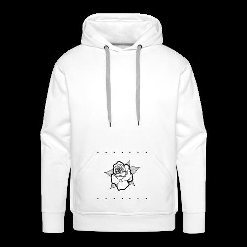 Small Black Rose - Sweat-shirt à capuche Premium pour hommes