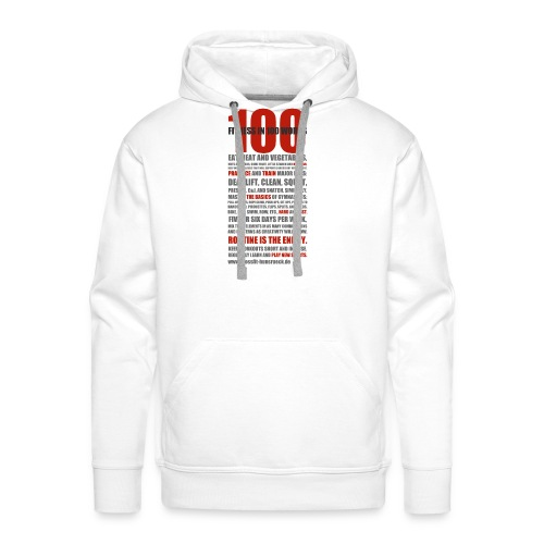 100 WORDS light shirt - Männer Premium Hoodie