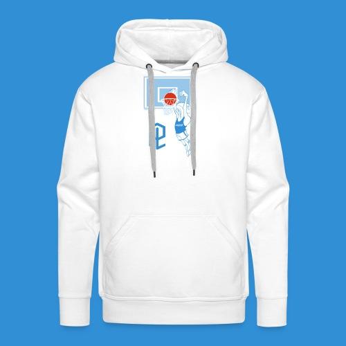 Logo Pielle - Felpa con cappuccio premium da uomo