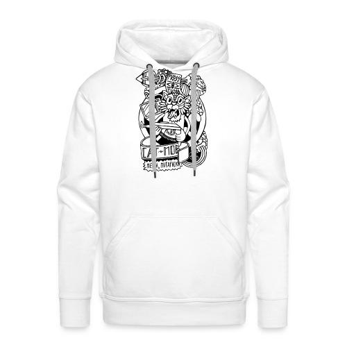 #CATMOB: Meow, mutafucka! (Outline) - Sudadera con capucha premium para hombre