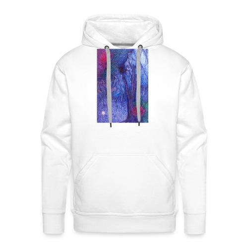 Forest Flower - Bluza męska Premium z kapturem