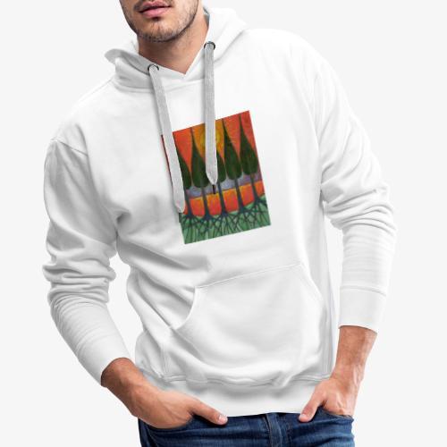 Czerwony Zachód Słońca - Bluza męska Premium z kapturem