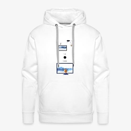 Lie, MAMA - Sweat-shirt à capuche Premium pour hommes