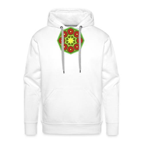 mandala retro - Sudadera con capucha premium para hombre
