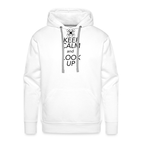 Keep Calm and Look Up - Mannen Premium hoodie