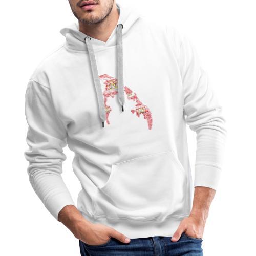TamilEelam Text Design red - Sweat-shirt à capuche Premium pour hommes