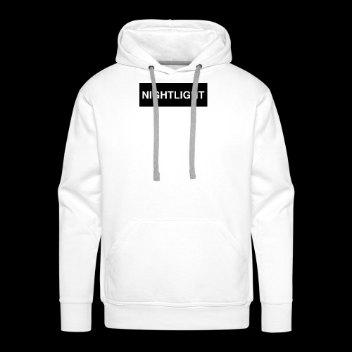 NIGHTLIGHT BOX LOGO (NIGHT) - Men's Premium Hoodie