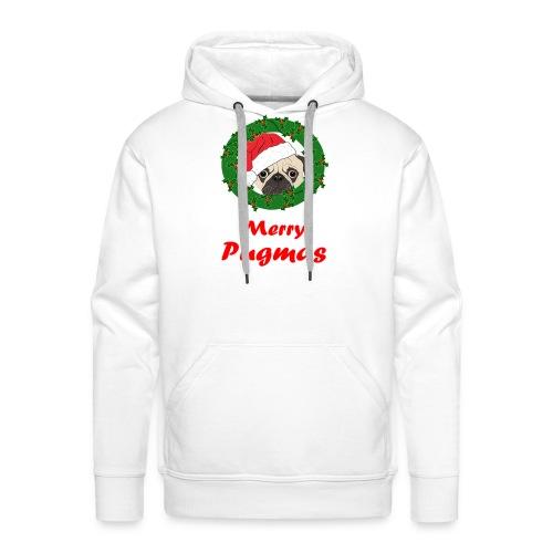 Merry Pugmas - Mannen Premium hoodie