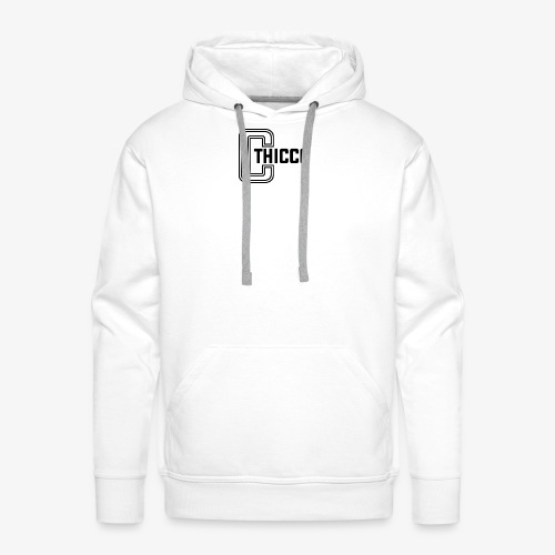 thiccc logo WHITE and BLACK - Men's Premium Hoodie
