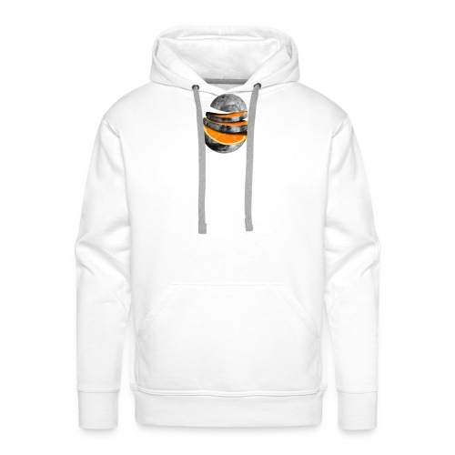 Naranja - Sudadera con capucha premium para hombre