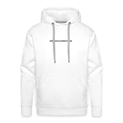 www.resolutionparty.com - Men's Premium Hoodie