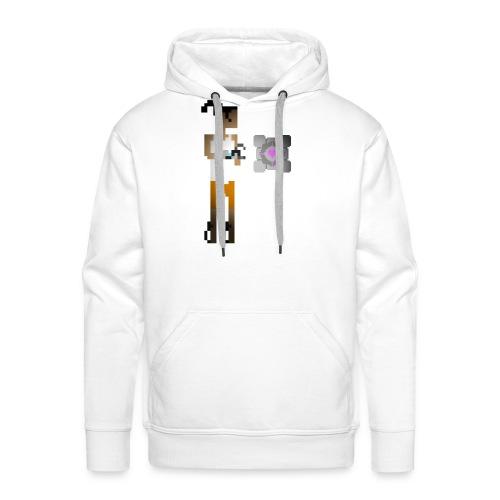 chell 2D - Mannen Premium hoodie