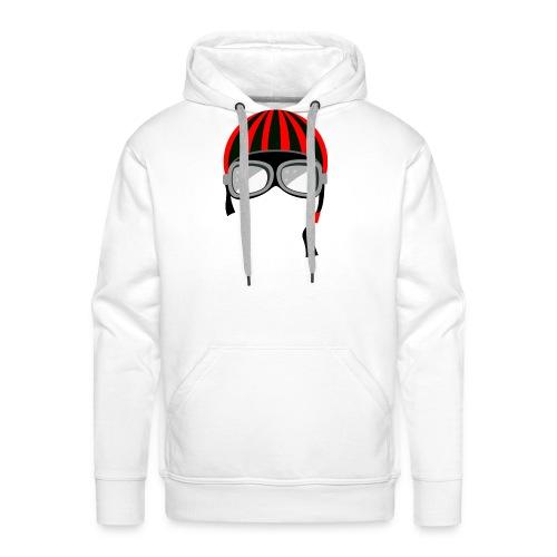 red_helmet-png - Felpa con cappuccio premium da uomo