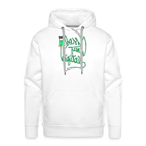 BASS JUNK DIGITAL ZIPPED HOODIE - Mannen Premium hoodie