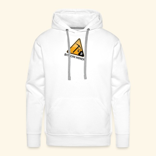 BITCOIN MINER - Bluza męska Premium z kapturem
