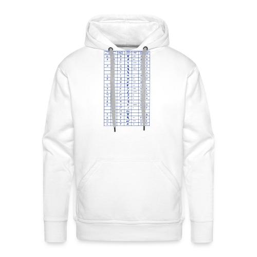 Libanon alphabet phoenicia - Männer Premium Hoodie