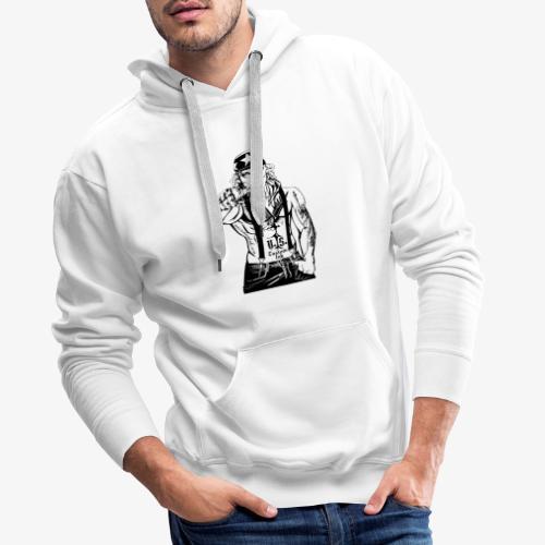 rebelle atitude - Sweat-shirt à capuche Premium pour hommes