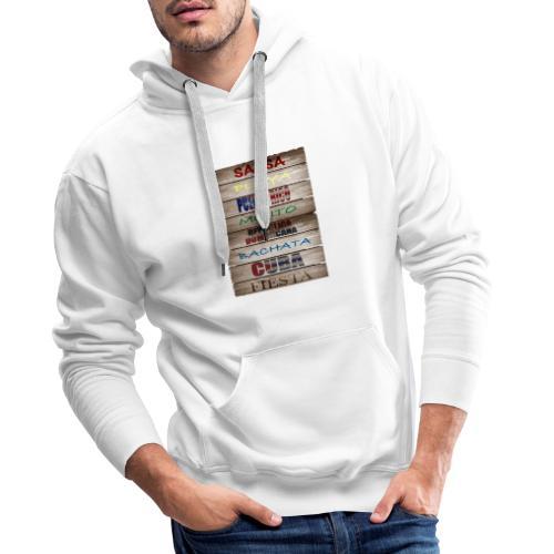#SalsaEsLaCura panneau bois salsa - Sweat-shirt à capuche Premium pour hommes