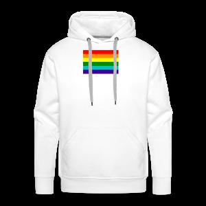 Gay pride rainbow vlag - Mannen Premium hoodie