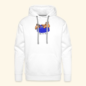Bernie in the pool - Men's Premium Hoodie
