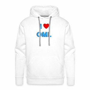I LOVE OML - Mannen Premium hoodie