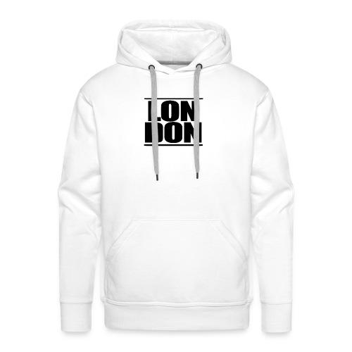 LON   DON Black - Men's Premium Hoodie