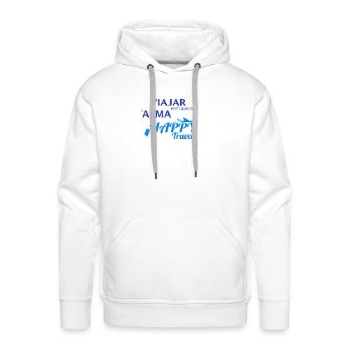VIAJAR ENRIQUECE EL ALMA - Sudadera con capucha premium para hombre