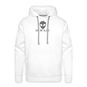 Are we alone logo - Men's Premium Hoodie