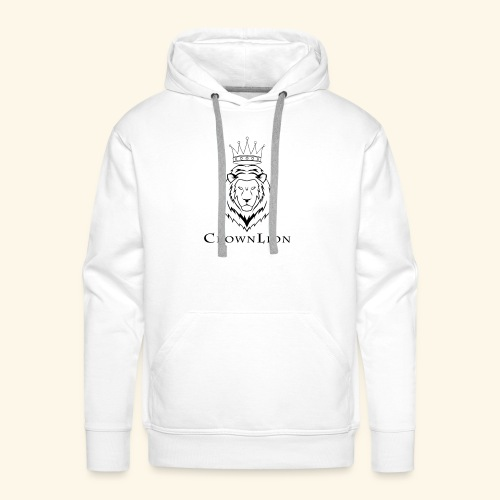 CrownLion - Sudadera con capucha premium para hombre