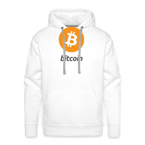 Bitcoin Logo Vertical - Männer Premium Hoodie