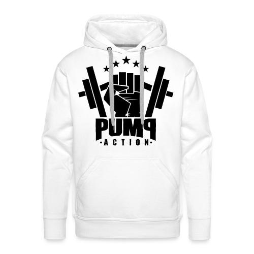 PUMP-ACTION LOGO BLACK - Männer Premium Hoodie