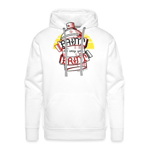 Paint the way you Print - White - Mannen Premium hoodie