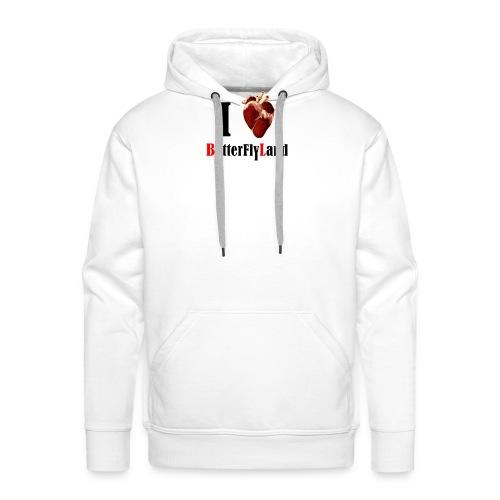 I love Butterflyland - Sweat-shirt à capuche Premium pour hommes