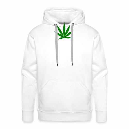 Feuille de weed - Sweat-shirt à capuche Premium pour hommes