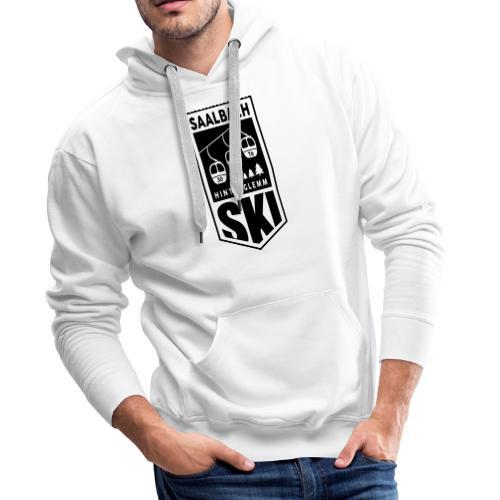 SKI embleem Saalbach - Mannen Premium hoodie