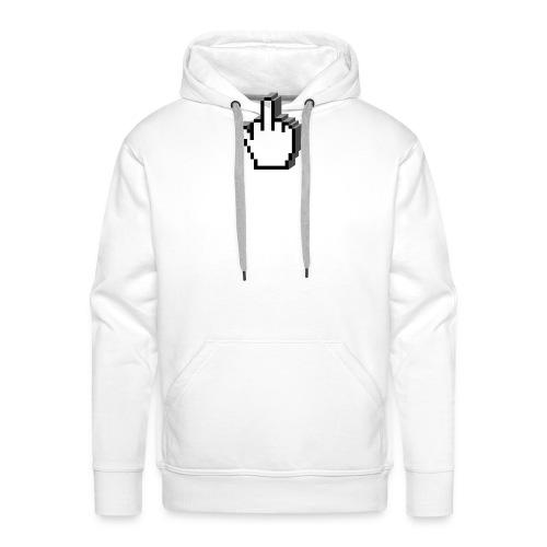 vurtual Middle Finger - Sweat-shirt à capuche Premium pour hommes