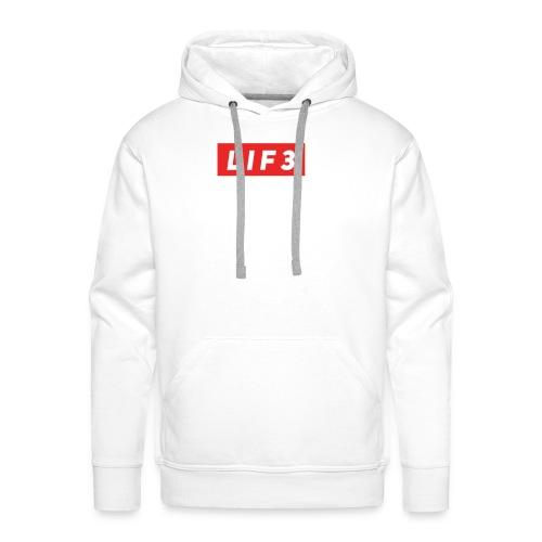 LIF3 Original Box Logo - Premiumluvtröja herr
