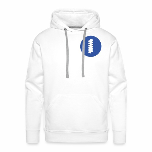 logomark in circular blue - Men's Premium Hoodie
