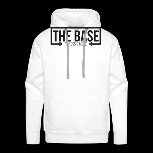 The Base Fitness and More Logo Wit - Mannen Premium hoodie