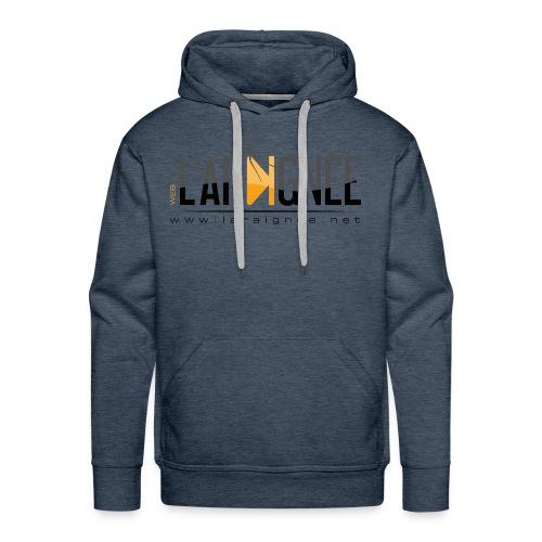L'ARAIGNÉE, logo noir - Sweat-shirt à capuche Premium pour hommes