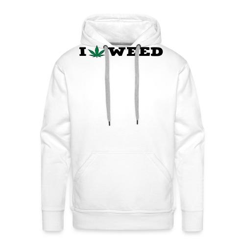 I LOVE WEED - Men's Premium Hoodie