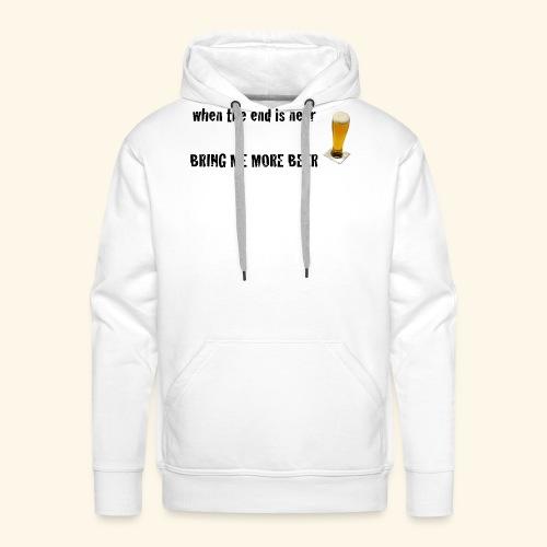 more beer - Männer Premium Hoodie