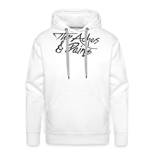 aches pains logo - Herre Premium hættetrøje