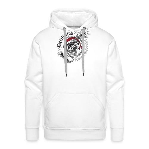 skull logo trans letras negras - Sudadera con capucha premium para hombre