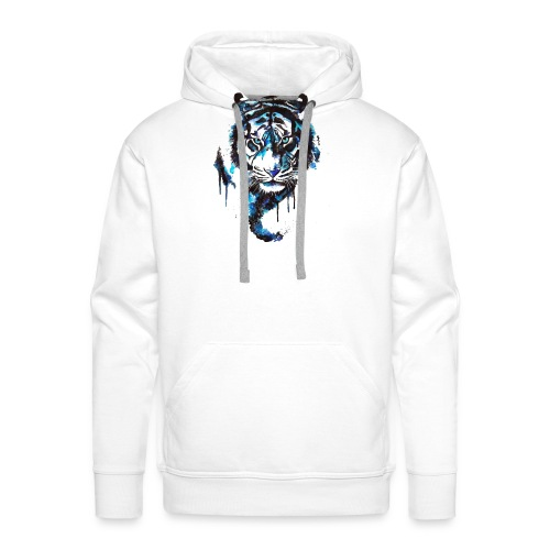 Blue Tiger - Premium Shirt - Männer Premium Hoodie