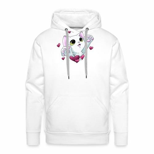 Smudge Hug (Pink Hearts) - Men's Premium Hoodie