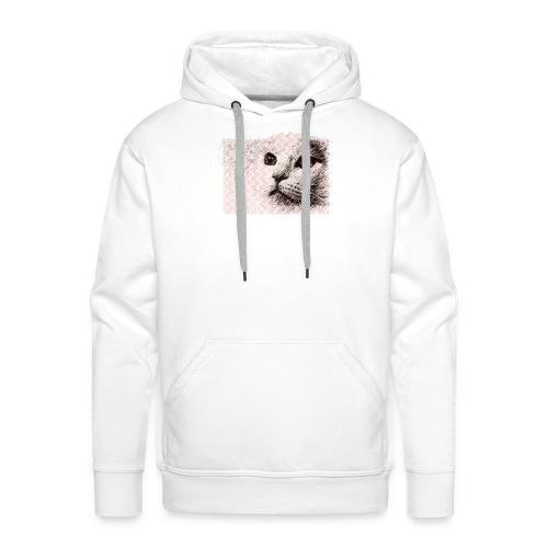 Katze mit Schwingungen - Männer Premium Hoodie
