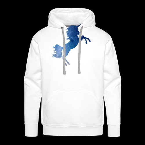 Galaxy Unicorn - Blue - Männer Premium Hoodie