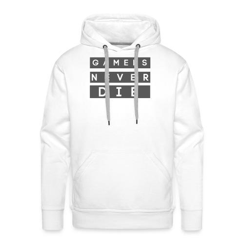 Skitz T-Shirt (Gamers Never Die) - Men's Premium Hoodie